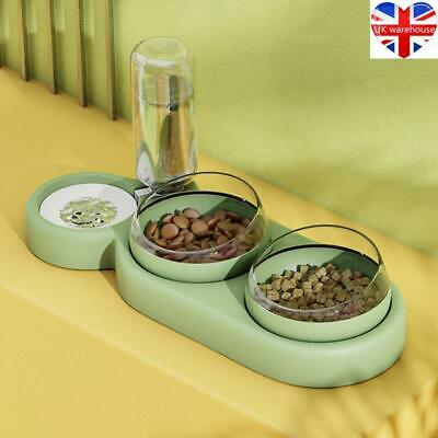 £10.48 • Buy Automatic Cat Bowl Water Dispenser Storage Pet Dog Cat Food Bowl Food Container