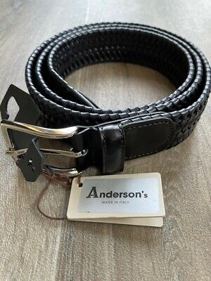 £42 • Buy Bnwt - Andersons Belt - Black Braided Leather - 38-40  (105) - Italy - £110