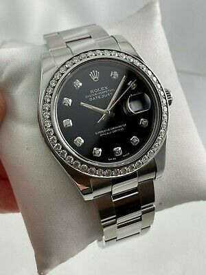 $ CDN12070.85 • Buy 2010 Rolex Oyster Perpetual Datejust II 116334 Diamond Dial + Bezel Wristwatch