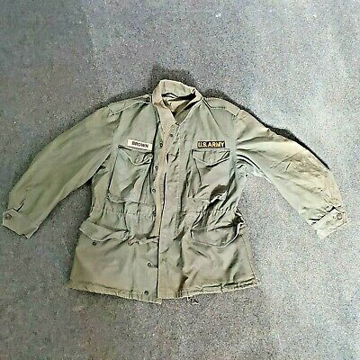 $96 • Buy Vintage US Army M-51 Field Jacket Coat M-1951 OG 107 Military Sz Long Small.