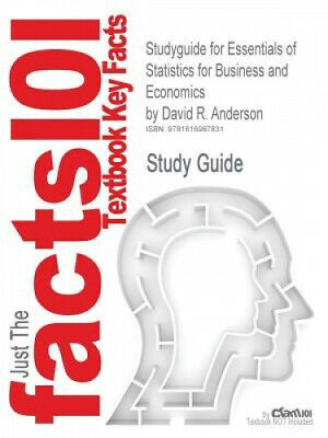 £33.13 • Buy Studyguide For Essentials Of Statistics For Business And Economics By
