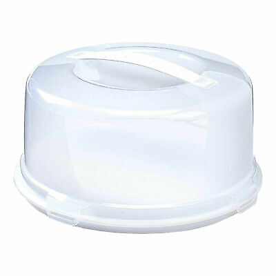 Plastic Cake Box Round Cake Storage Carrier Container Clear Lockable Lid Cover • 8.49£