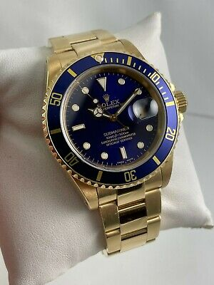 $ CDN32723.80 • Buy 2001 Rolex Oyster Perpetual Submariner Date 16618 18K Yellow Gold Wristwatch
