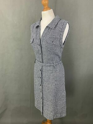 New BRORA Ladies 100% Linen Sleeveless Shirt DRESS Size UK 12 - BNWT • 49.99£