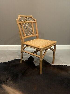 AU75 • Buy VINTAGE Chinoiserie Style Cane & Rattan Dining Chairs / Side Chairs PICK UP ONLY
