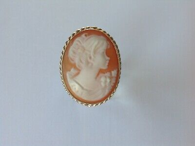 £129 • Buy Cameo Ring, 9ct Yellow Gold, Large Carved Shell, Finger Size O.
