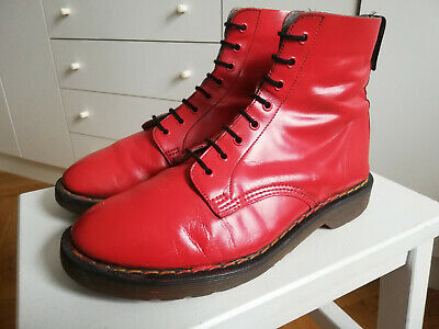 £47.04 • Buy Vintage 80s Dr Martens Hawkins Boots UK 7 41 Stiefel Made In England Bright Red