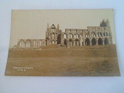 £6.99 • Buy WHITBY ABBEY, Ross Photographer - Vintage Real Photo Postcard §ZD1137