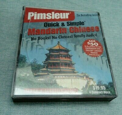 £18.99 • Buy Pimsleur Chinese (Mandarin) Quick And Simple 4 CD Course *case Damage*