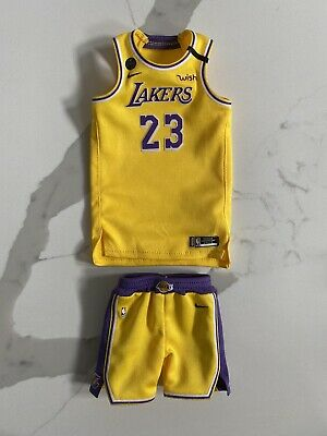 $45.99 • Buy NEW 1/6 LeBron James NBA LAKERS Home Yellow JERSEY With KOBE Patch For ENTERBAY