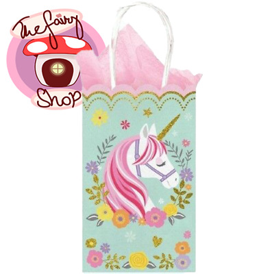£5.51 • Buy Magical Unicorn Party Supplies Treat Loot Lolly Bags X 10 Paper Quality