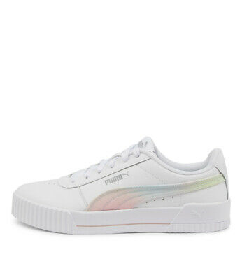 AU100 • Buy New Puma Carina L Ombre Wht Silver Womens Shoes Casual Sneakers Casual