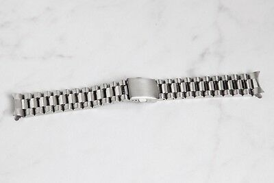 $ CDN24.19 • Buy 18mm President Style Watch Bracelet Watch Band With Curved End Links