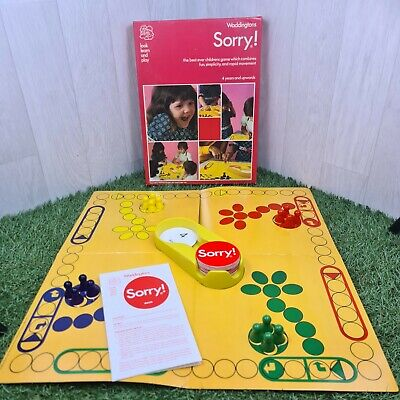 £19.95 • Buy Sorry! Vintage Family Board Game 1977 Waddingtons Complete With Instructions VGC