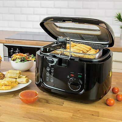 £31.94 • Buy 2.5L Electric Deep Fat Chip Fryer Non Stick Pan & Safe Basket Handle With Window