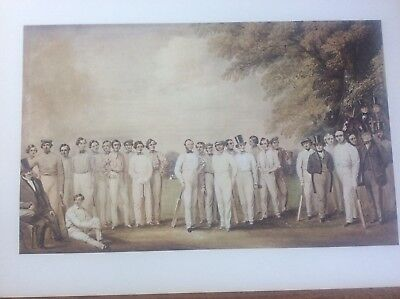 Cricket Print The Town & University Of Cambridge Lithograph By N Felix 1847  • 9.99£