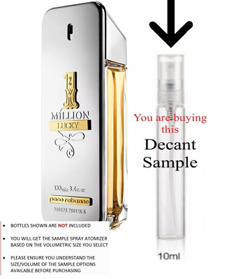 $ CDN19.80 • Buy 1 Million Lucky By Paco Rabanne 10ml  Oz EDT Cologne (TRAVEL SIZE 10ML)