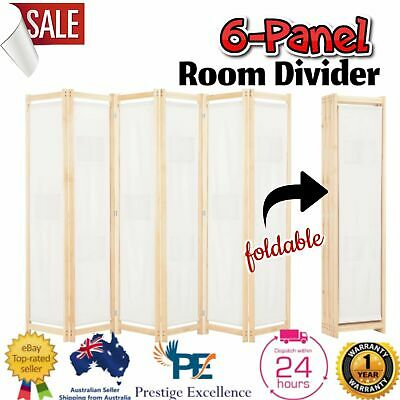 AU102.87 • Buy 6 Panel Room Divider Privacy Screen Dividers Stand Wood White Wooden Partition
