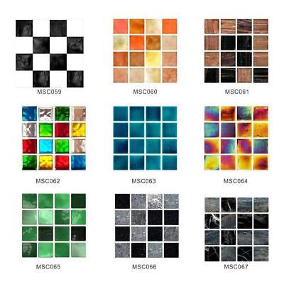 £4.73 • Buy Home Wall Decal Self-adhesive Stick On Bathroom Kitchen 30X Mosaic Tile Stickers
