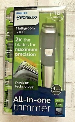 AU22.54 • Buy Philips Norelco 5000 Multigroom Hair Trimmer With 18 Attachments - MG5750/49