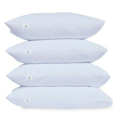 £11.99 • Buy Soft Hotel Quality PollyCotton Hallowfibre New Filled Sleeping Pillows Pack Of 4