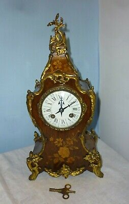 £585 • Buy Very Pretty Victorian Marquetry Mantle Clock Mint Condition Full Working Order