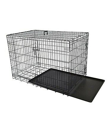£69.99 • Buy 36-inch(XL) Double Doors Metal Dog Crate Two Door Folding Dog Kennel Cage...