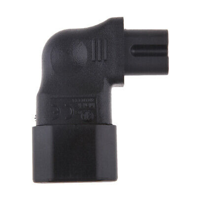 £4.94 • Buy IEC C14 To C7 Molded Plug Converter Adapters Angled Connectors Universal