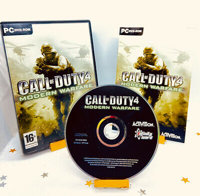 £4.39 • Buy Call Of Duty 4 Modern Warfare (PC) DVD ROM Game Complete Super Fast Delivery!