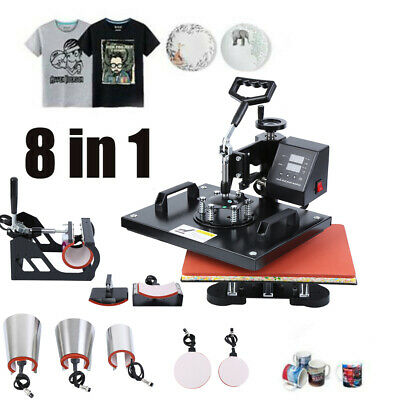 AU309.19 • Buy 8 In 1 Heat Press Digital Transfer Sublimation T-Shirt Mug Hat 15 X12