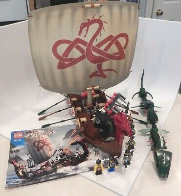 £182.21 • Buy Lego 7018 Viking Ship Challenges The Midgard Serpent 100% Complete