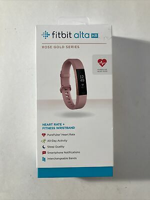AU97.28 • Buy Fitbit Alta HR Rose Gold Series Small Tracker Heart Rate + Fitness Wristband