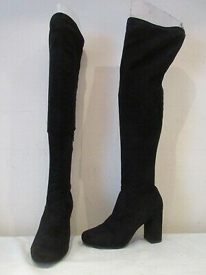 £27 • Buy River Island Black Stretch Over Knee Pull On Boots Uk 5 Eu 38 (3668)