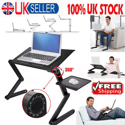 £10.59 • Buy Adjustable Portable Laptop Stand Lazy Lap Sofa Bed PC Notebook Desk Table Tray