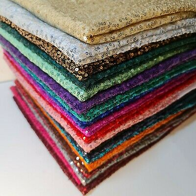 £6.99 • Buy Sequin Sparkly Shiny Bling Dress Craft Drape Glitter Fabric Material 50  Meter