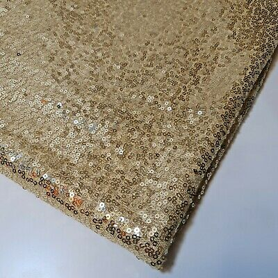 £7.49 • Buy Light Gold Sequin Fabric Sparkly Shiny Bling Decor Material Cloth 130cm Wide