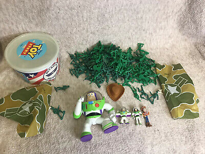 £17.99 • Buy Disney 1995 Toy Story Bucket O' Soldiers Army Men Extra Soldiers And Buzz Woody