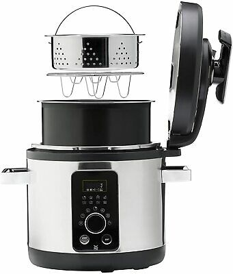 £439.50 • Buy WMF Hood Pot With Pressure Slow Cooking Electric 8 On 1-6L Steel INOX Rice Steam