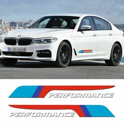 $18.89 • Buy 2 Pcs M Power Performance Door Side Car Sticker Decal For Bmw