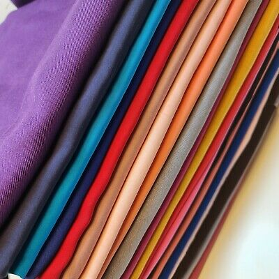 £3.99 • Buy Poly Viscose/ Cotton Plain Fabric Non Stretch Dress Craft Material 58  Meter