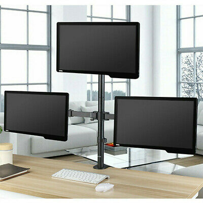 """£30.92 • Buy Triple Monitor Mount For 13-32"""" Screens Three Arm Desk Mount Bracket With Clamp"""