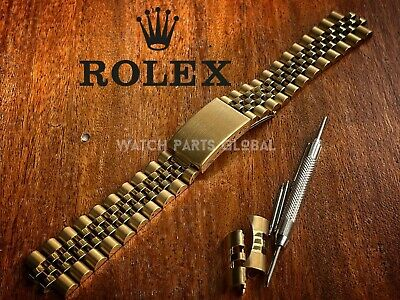 £24.99 • Buy New 19mm Jubilee Gold Plated Bracelet Solid Watch Strap For Rolex DateJust RX-8