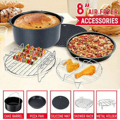 AU23.02 • Buy 8'' 9pc Air Fryer Accessories Chips Baking Basket Rack For Phillips