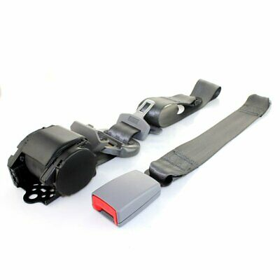 AU25.84 • Buy 1X Fits Citroen 3 Point Harness Safety Seat Belt Retractable Gray Car Universal