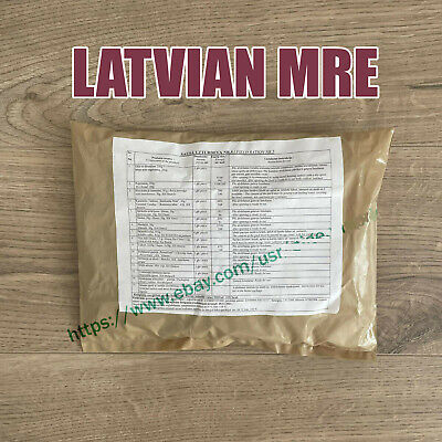 $33.99 • Buy Latvia Army Ration Pack 2021. Military Meals Ready To Eat LATVIAN Mre Food