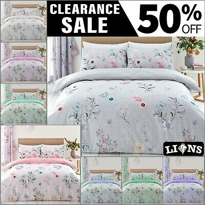 £9.99 • Buy CECILIA DUVET COVER Flowers Bedding Set Easy Care Modern Quilt Covers Pillowcase