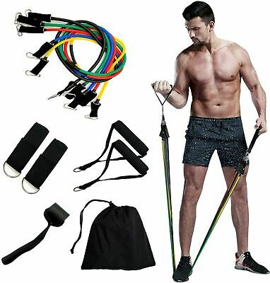 AU25.30 • Buy Qcfang Resistance Bands Set 11 Pack Workout Bands,Include 5 Exercise Bands Up To