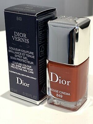 £16.95 • Buy Dior Vernis Couture Colour Gel Shine Protective Nail Care 849 Rouge Cinema Bnib