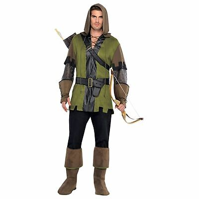 £27.88 • Buy Mens Robin Hood Costume Adult Prince Of Thieves Fancy Dress Medieval Archer