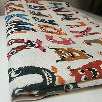 £4.99 • Buy 100% Cotton Printed Alphabets Letters Monstesr Craft Fabric 58  By The Meter